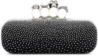 Alexander McQueen Swarovski studded leather clutch