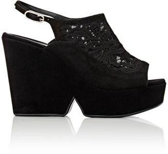 Robert Clergerie Women's Danat Platform Sandals-BLACK $625 thestylecure.com