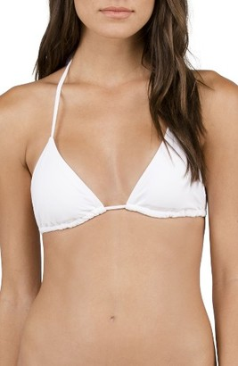 Women's Volcom Simply Solid Triangle Bikini Top $32 thestylecure.com