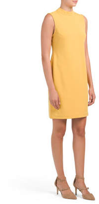 Petite Sleeveless Mock Sheath Dress
