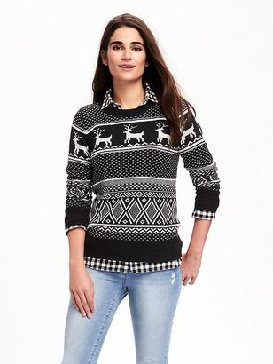 Reindeer-Graphic Sweater for Women $36.94 thestylecure.com