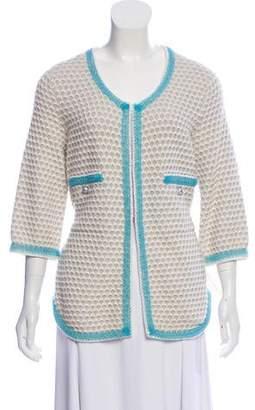 Chanel Cashmere Textured Cardigan