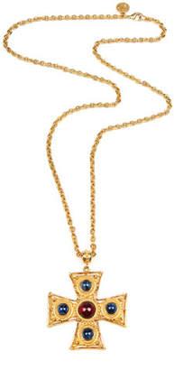 Ben-Amun Square Cross Pendant Necklace