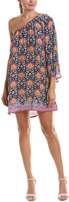 Tolani One-Shoulder Silk Shift Dress
