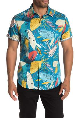 Robert Graham Mediterranean Short Sleeve Classic Fit Hawaiian Shirt