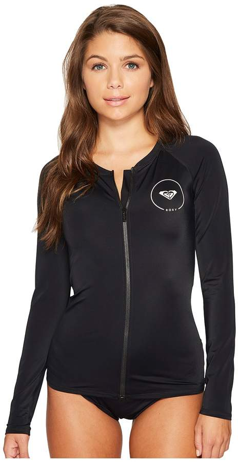 Roxy - ROXY Essentials Long Sleeve Zipped Rashguard Women's Swimwear