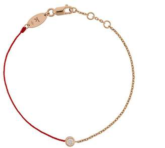 Redline 18kt rose gold and diamond string and chain bracelet