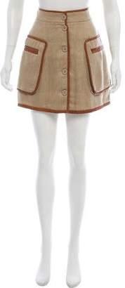 By Malene Birger Leather-Trimmed Mini Skirt