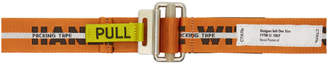 Heron Preston Orange Webbing Handle With Care Belt