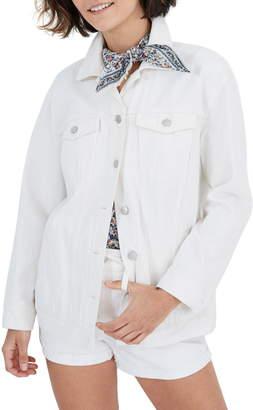 Madewell Oversize White Denim Jacket
