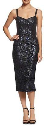 Dress the Population Lynda Sequined Midi Dress