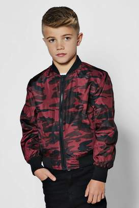 boohoo Boys Red Camo Jacket