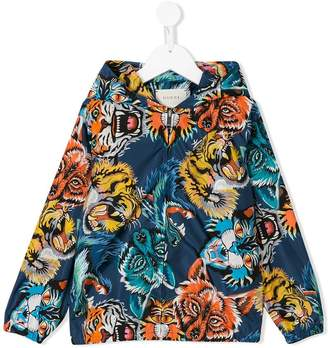 Gucci Kids hooded printed zip jacket