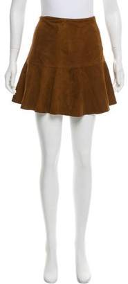 Polo Ralph Lauren Suede Mini Skirt