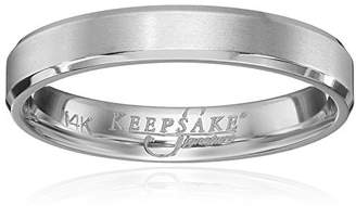Keepsake Men's Signature 14k Gold 4mm Wedding Band