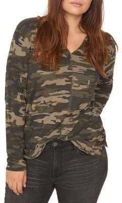 Sanctuary Ives Camouflage Long-Sleeve Tee