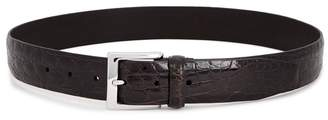 Andersons Anderson's Brown Patent Crocodile Belt