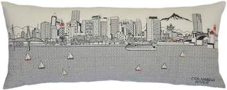 BEYOND CUSHIONS Portland Embroidered Skyline Accent Pillow