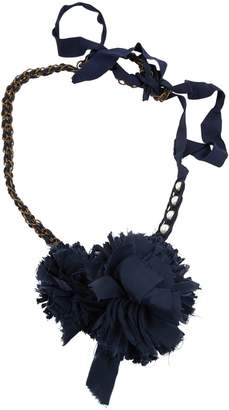 Lanvin Navy Cloth Necklace