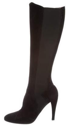 Alaia Suede Brogue Boots