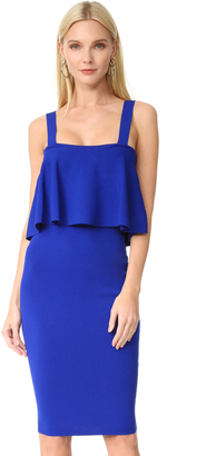 Milly Flounce Fitted Dress $395 thestylecure.com