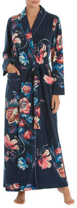 Jonquil Floral-Print Long Robe