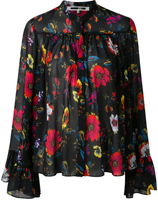 McQ Alexander McQueen oversized floral print blouse $415 thestylecure.com