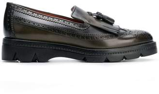 Santoni chunky sole brogue loafers