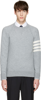 Thom Browne Grey Cashmere Pullover $1,160 thestylecure.com