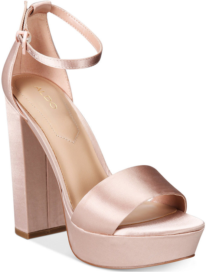 Aldo Nesida Two-Piece Platform Block-Heel Sandals Women's Shoes