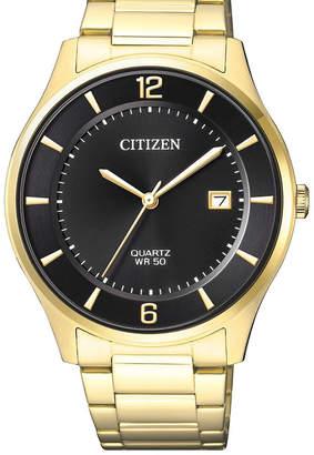 Citizen BD0043-83E Stainless Steel Quartz Date Watch in Gold