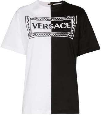 Versace Vintage Logo Two-Toned T-Shirt