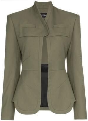 Situationist one button wool blazer