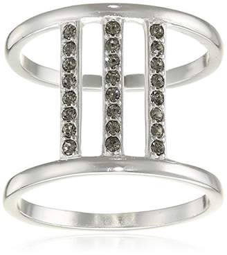 Pilgrim Women Silver Plated Round Crystal Rings