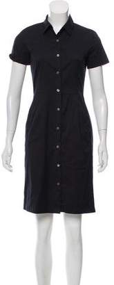 Theory Button-Up Knee-Length Dress