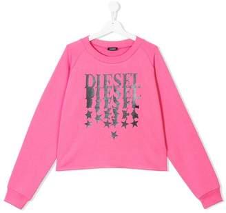 Diesel star logo print sweatshirt