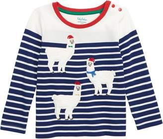 Boden Mini Breton Applique T-Shirt
