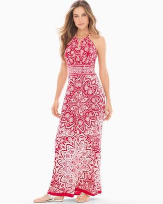 Maggy London London Times Keyhole Halter Maxi Dress