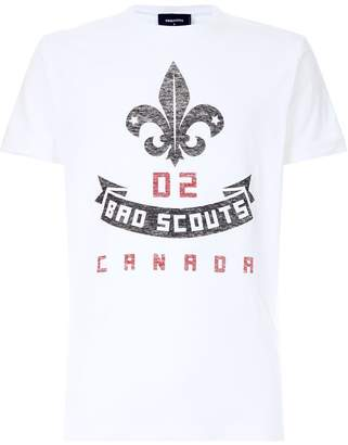 DSQUARED2 Bad Scout Canada Print T-Shirt