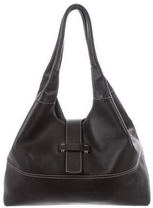 Loro Piana Leather Shoulder Bag Brown Leather Shoulder Bag