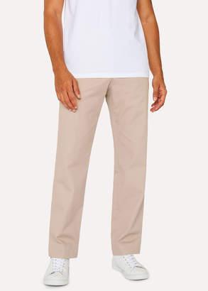Paul Smith Men's Standard-Fit Beige Organic-Cotton Chinos