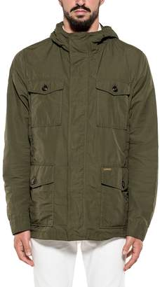 Woolrich Army Green Hooded Jacket