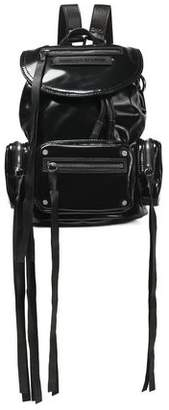 McQ Faux Leather-Trimmed Vinyl Backpack