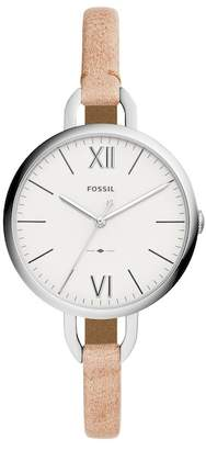 Fossil Women's Round Sand Leather Strap Watch, 36mm