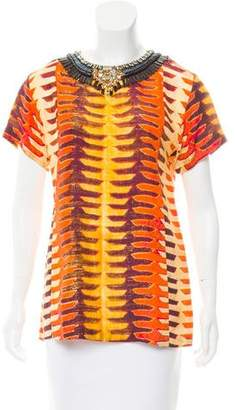 Figue Silk Abstract Top