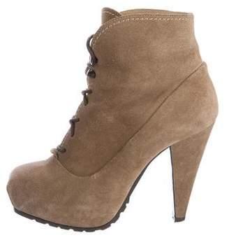 Proenza Schouler Suede Platform Ankle Boots