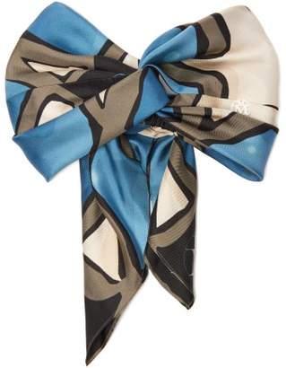 Maison Michel Bora Abstract Print Silk Knotted Headband - Womens - Multi