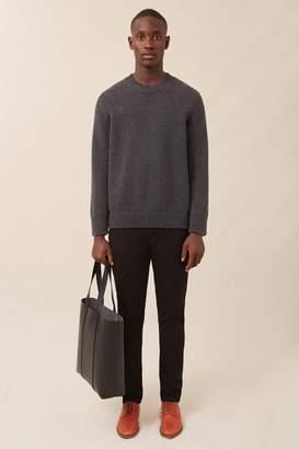 Mansur Gavriel Men's Cashmere Oversized Crewneck - Dark Grey Melange