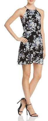 Aqua Floral-Print Fit-and-Flare Dress - 100% Exclusive