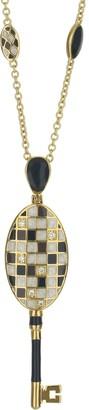 Ralph Lauren G. Adams G Adams Goldtone Mosaic Colored Enamel Pendant Necklace